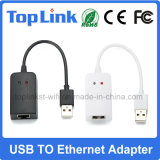 USB 2.0 aan RJ45 de Ethernet Getelegrafeerde LAN 10/100Mbps Kaart van het Netwerk