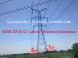 Torre dobro da transmissão do circuito de Megatro 500kv 5e2 Szc1