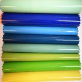Couro de patente sintético da boa qualidade sem os enrugamentos para os sacos (HTS005)