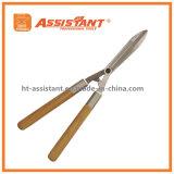 Cisaillements droits de haie de lame avec les traitements en bois de cendre
