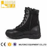 Ботинок дешевых черных полиций армии неподдельной кожи воинских тактический