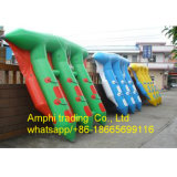 Juegos inflables del agua del barco de los pescados de vuelo/de pescados de la mosca