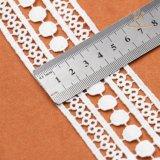 Modèles chimiques de lacet de polyester de vente en gros d'usine de Guangzhou pour le lacet de vêtements