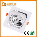 Nouveau design Lampe de plafond réglable en LED 10W COB Square LED Downlight