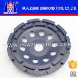 Huazuan 두 배 줄 가는 세그먼트 금속 가는 컵 바퀴