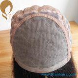 """18 """" peluca delantera del cordón de la seda Top4 """" X4 """" del pelo humano de la Virgen de Mogolian para las mujeres"""
