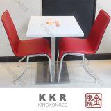 Tabella pranzante del caffè quadrato di pietra artificiale del ristorante