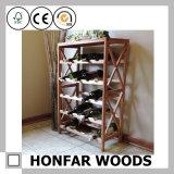 Crémaillère en bois de vin de présentoir de vin de bouteilles du Module 25