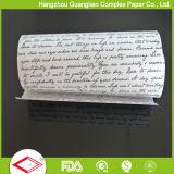 rodillo sin blanquear del papel de pergamino del color de los 25FT Brown en rectángulo del cortador