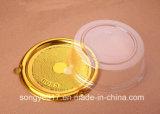 Gold und Silber am Ende des Käse-Blasen-Verpackens