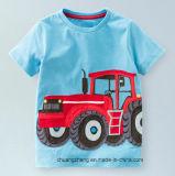 Tシャツの100%年の綿の短い袖の男の子は子供のTシャツをからかう