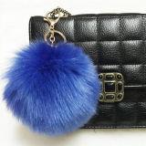 Fox 모피 POM POM/Black 색깔 공상 모피 POM 털실 또는 착색된 장식적인 모피 공