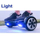 車輪2の車輪の自己のバランスのスクーターの彷徨いのボードの電気スクーターの電気スケートボードの自転車のLEDライトとの高品質6.5のインチHoverboard