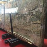 雨林の緑の大理石の平板、ホテルの装飾のための砂漠のオアシスデザイン