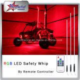 Peitsche-Antenne der LED-Peitsche RGB-versandet multi Farben-5feet LED Markierungsfahne, 4 Fuß 6feet LED Peitsche-für ATV UTV Autos