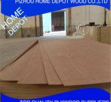 Madera contrachapada de la base 9m m Bintangor del álamo o de la madera dura con precio barato