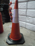 Advertencia de carretera flexible flexible Advertencia PE Cono retráctil de tráfico reflectante