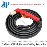 Tocha de soldadura portátil 5m do plasma de Trafimet CB150 com conetor central
