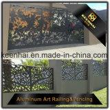 Décoration au laser découpé par perçage en tôle Aluminium Garden Fence