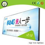 60*60cm小型の広告ファブリックLED細いライトボックス