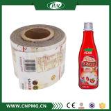 Étiquettes imperméables à l'eau de bouteille d'enveloppe de rétrécissement de PVC