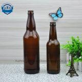 330ml無鉛のこはく色のガラスビール瓶