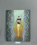 Pittura d'attaccatura d'ondeggiamento della ragazza del reticolo della tela di canapa africana della casa