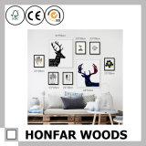 Cadre de tableau en bois de mur de diplôme animal multi d'art