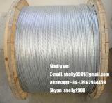 """5/8 """"; fio de aço galvanizado 19 / 3.18mm / Guy Strand / Ehs Guy Wire"""