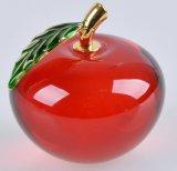 Pequeño Apple cristalino artificial rojo para la decoración casera