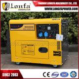 Ensemble de générateur diesel monophasé à une température de 5000 W 7kVA refroidi par air