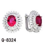 Monili d'imitazione 925 orecchini d'argento del diamante delle serrature di inglese