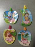 Bolso Shaped modificado para requisitos particulares de la bolsa del alimento de la categoría alimenticia del bolso de la bebida del jugo de la bolsa del canalón de los alimentos para niños