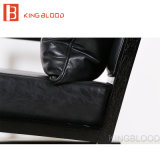 Cadeira preta de madeira do sofá da cadeira do braço do couro genuíno do lazer moderno de Hotsale