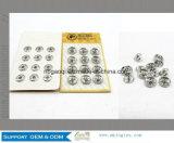 Empaque de metal botones de presión al por mayor de la tarjeta de Botones