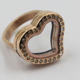 Bester verkaufenEdelstahl-Ring mit Locket - Magnet-Art