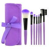 7-stuk Uitrusting van de Borstel van de Make-up van de Borstel van de Lip van de Oogschaduw de Kosmetische met het Geval van de Zak