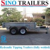 Remorques hydrauliques lourdes de tombereau galvanisées par tandem