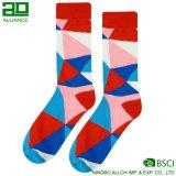 Socken-Hersteller-kundenspezifische glückliche Socken