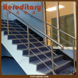 Acabado en satinado interior Pasamano de acero inoxidable para Hotel Stair (SJ-H1841)