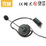 Hz410マイクロフォンが付いている携帯用パソコンのヘッドセットそしてヘッドホーン