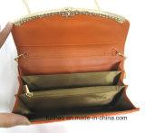 Бумажник Глянцеват PU конструкции способа повелительницы кожаный с цепью для плеча