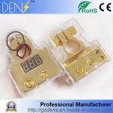 braçadeira do terminal da bateria de carro Calibre de diâmetro de fios do calibre do positivo 1/0/4 da indicação 12V digital