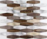 De Tegels Aachrb3201 van de Muur van de Badkamers van Backsplash van de Keuken van de Decoratie van de Tegels van het Glas van Matel van de Tegels van het Mozaïek van het aluminium