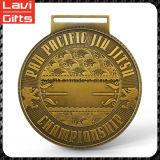 Venta de la tapa del precio de fábrica personalizada Premio Medalla de Jiu-Jitsu