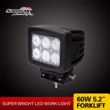 "60W 5.2 "" Square LED Work Light voor Truck Marine"