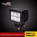 """indicatore luminoso quadrato del lavoro di 60W 5.2 """" LED per il fante di marina del camion"""