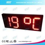 Grande sinal impermeável ao ar livre do indicador do pulso de disparo do diodo emissor de luz com indicador da temperatura