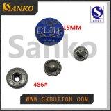 Специальная цветастая выгравированная кнопка металла в смазывать и