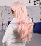 성과와 Cosplay를 위한 다채로운 긴 파도치는 방열 합성 머리 가발